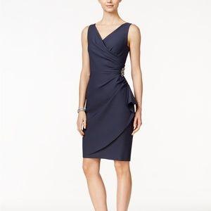 Alex Evenings Compression Embellished Ruched Dress